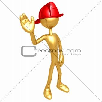 Fireman Waving
