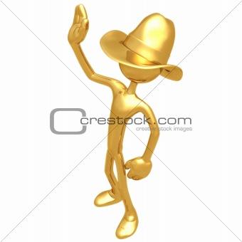 Cowboy Waving
