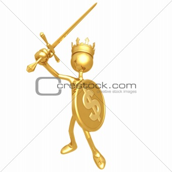 King With Dollar Coin Shield