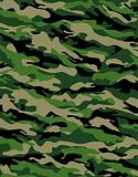 Camouflage Pattern in Greens