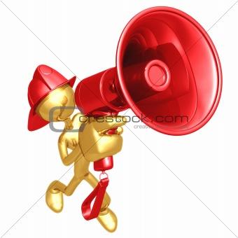 Fireman With Megaphone