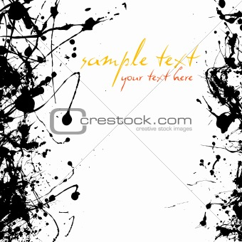 black ink abstract background