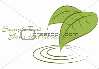 green leaves fully editable vector illustration