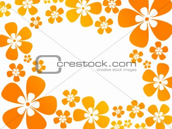 background with flowers in warm colors