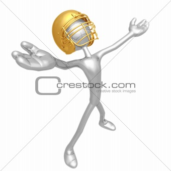 Football Player Arms Open