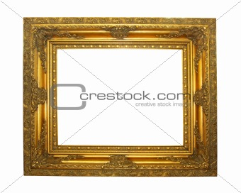 Ancient golden frame