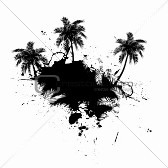 Palm Trees Grunge Vector