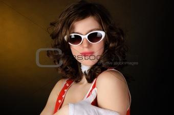 beautiful girl  in sun glasses