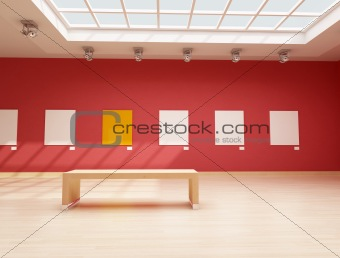 modern red art gallery