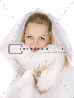 Bride with furs