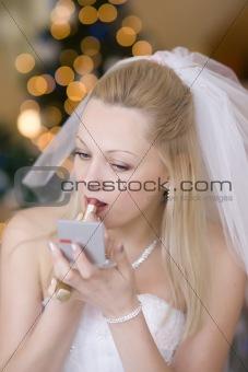 Bride put on rouge