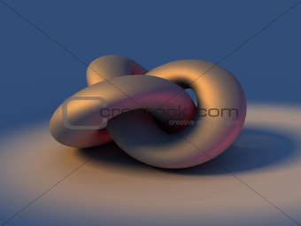 3D rendering of infinity knot