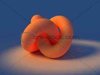 3D rendering of infinity knot
