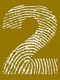 Fingerprint Alphabet - Number 2