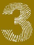 Fingerprint Alphabet - Number 3