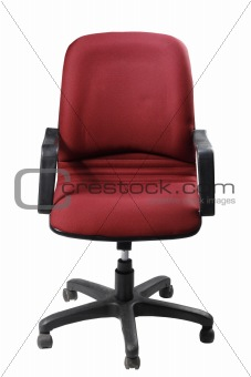 Single office chair on white background