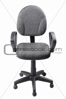 Single office chair isolated on white background