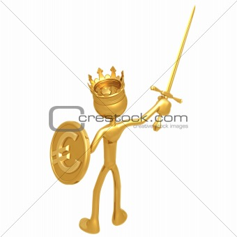 King With Euro Coin Shield