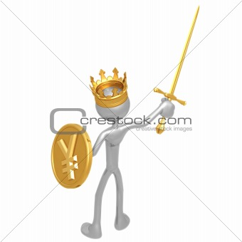 King With Yen Coin Shield