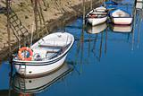 Boats in Orio´s river