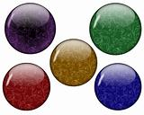 Varicoloured balls with a pattern