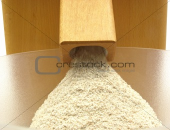Looking at a flour mill doing its work