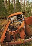 Rusty abandoned car