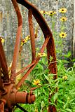 Rusted antique wheel