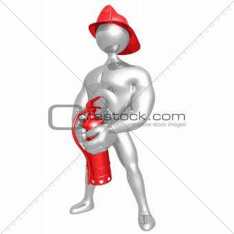 Fireman Calendar Pose