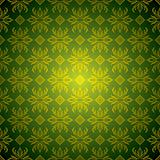 green wallpaper tile gold
