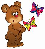 Bear and butterflies