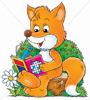 Fox solve a crossword