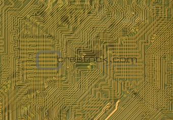 Circuit board background in hi-tech style