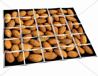 almonds collage