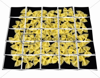 bow tie pasta collage