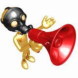Gas Mask Megaphone