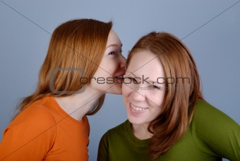 Portrait of two young woman