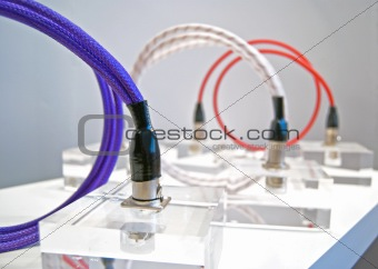 Cables - purple, white and red HiFi
