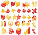 Red and yellow web/blog icons