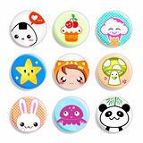 Kawaii badges