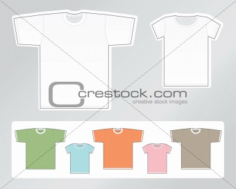 Blank t-shirts for man and woman