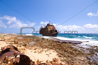 caribbean shipwreck