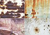 rusty metallic surfaces