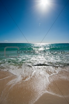 Beautiful beach, sun and sea