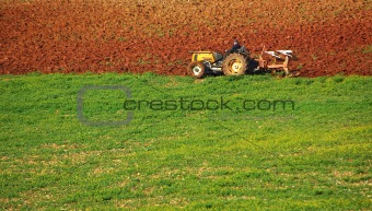 Small tractor .