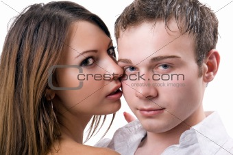 Portrait of the young beauty couple 2