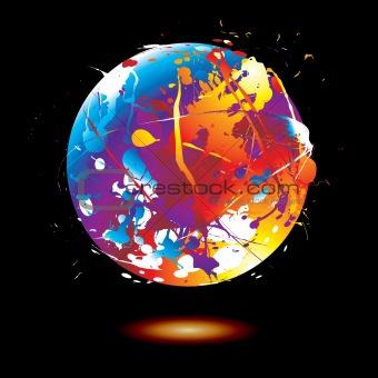 paint splat globe