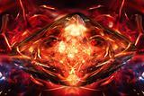 Flaming stone