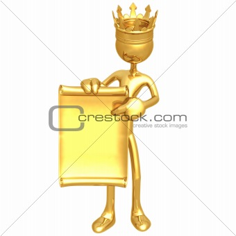 King With Scroll