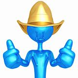 Cowboy Two Thumbs Up
